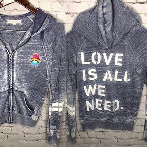 Spiritual Gangster Love Is All We Need Hoodie XS